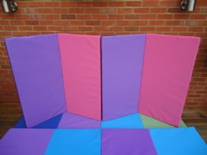 PINK & PURPLE 4-FOLD MAT 2400mm x 1200mm x 50mm